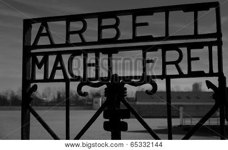 Dachau entrance sign