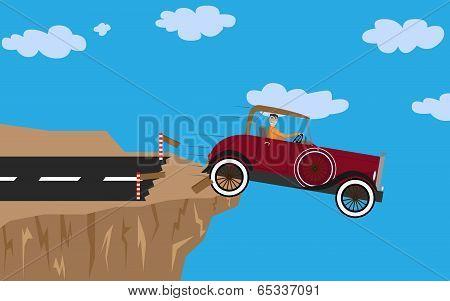 Car Crash with man
