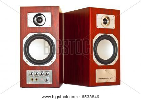 Two Brown Speakers