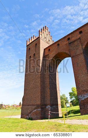 Sanitary Tower Of Marienwerder Castle (1350). Kwidzyn, Poland