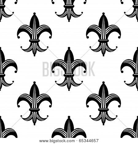 Bold stylized fleur de lys pattern