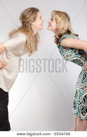 Portraits Of Two Beautiful Girls