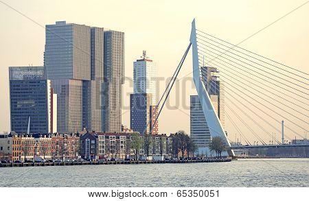 Modern Architecture In Rotterdam, Netherlands