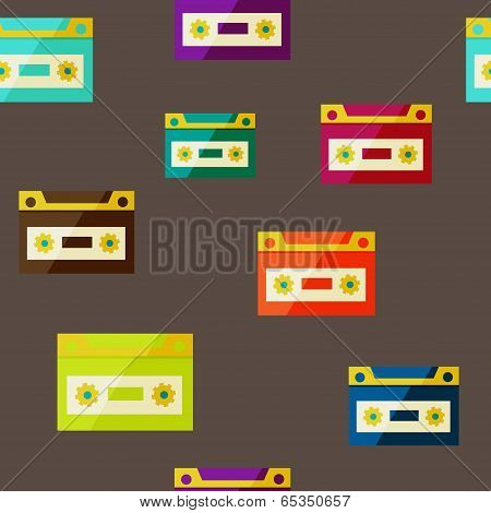 audiocassette seampless background