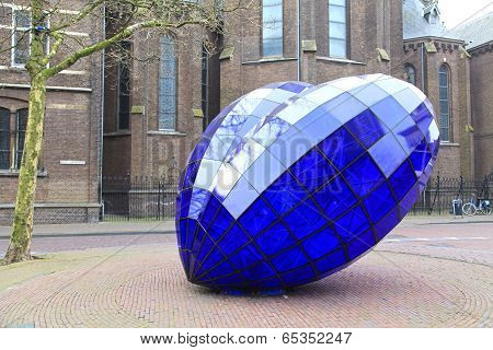 Blue Heart In The Centre Of The City Delft, Netherlands