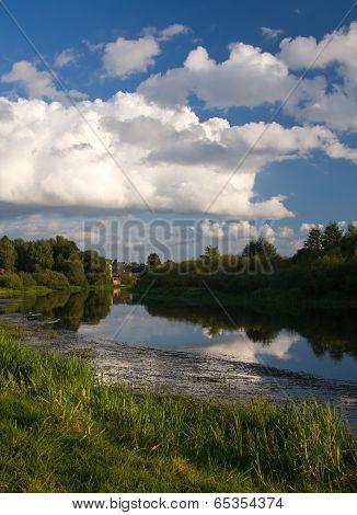 river sky clouds