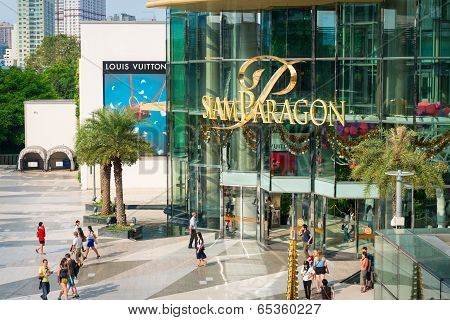 Siam Paragon Shopping Mall In Bangkok