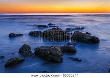 Beach Rocks Sunrise