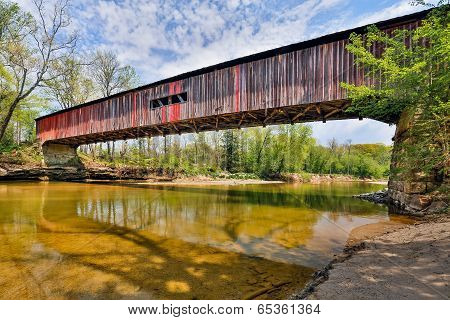 Covered Bridge At Cox Ford