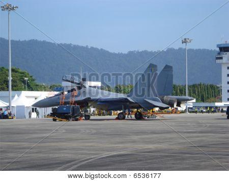 Mig 29N Fulcrum at Lima Langkawi Airshow 2009