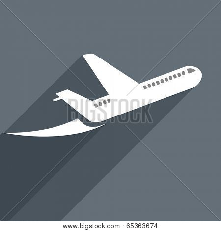 minimalistic illustration of a starting plane, eps10 vector