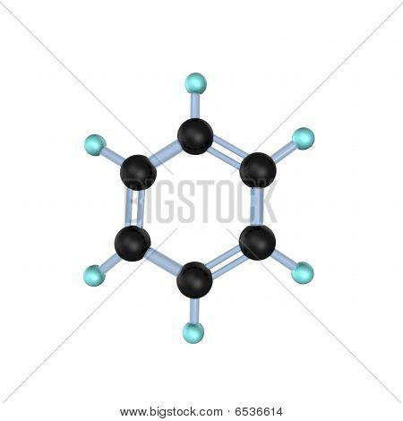 Benzene Molecule 3D