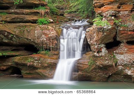 Waterfall In The Hocking Hills
