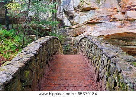 Stone And Brick Footbridge
