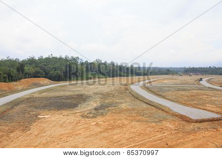 BORNEO, MALAYSIA - MAY 03 2014: Deforestation. Photo of tropical rainforest in Borneo being destroyed to make way for oil palm plantation.