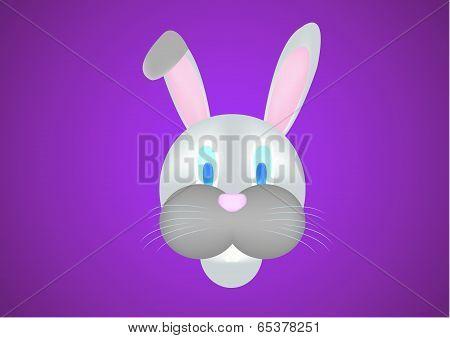 Rabbit Head Illustration