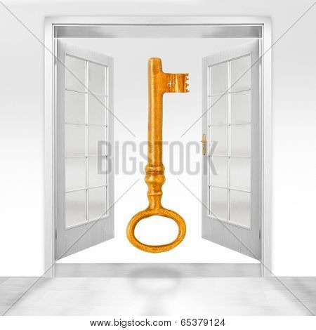 Golden key opens all doors. Bribery metaphor.
