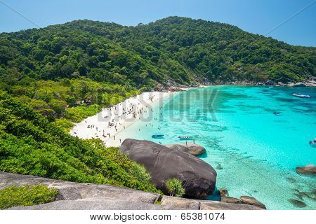 View point at Donald Duck Bay at Ko Similan Island in Similans national park, Thailand