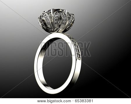 Ring with diamond             Find Similar Images     Share ?      Ring with diamond isolated on black background