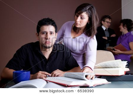 Student Struggling With Study