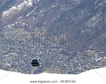 Cable car of Zermatt
