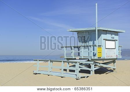 Lifeguard Stand in the sand, Venice Beach, California