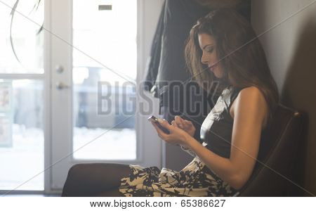 Attractive Woman In The Waiting Room