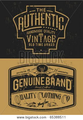 handmade vintage label collection for apparel 2