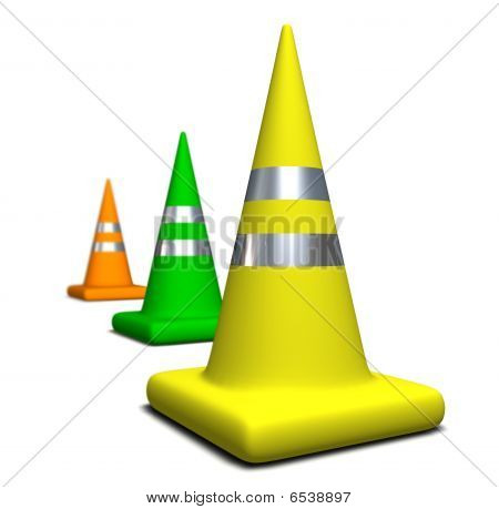 Colored Cones