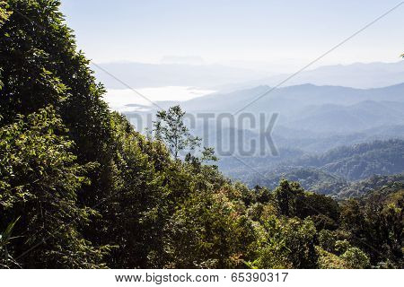 Sea Of Mist With Doi Luang Chiang Dao, View Form Doi Dam In Wianghaeng Chiangmai Thailand