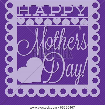 Papel Picado Mother's Day Card In Vector Format.