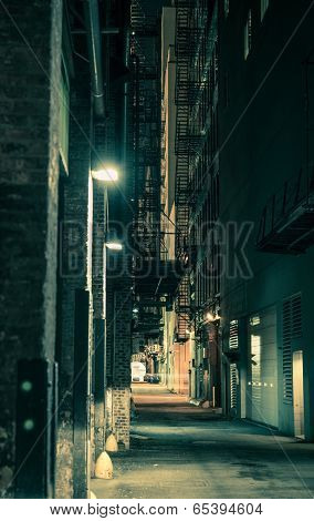 Dark Chicago Alley