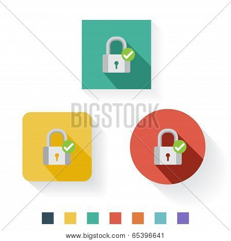 Protected Flat Icon Design