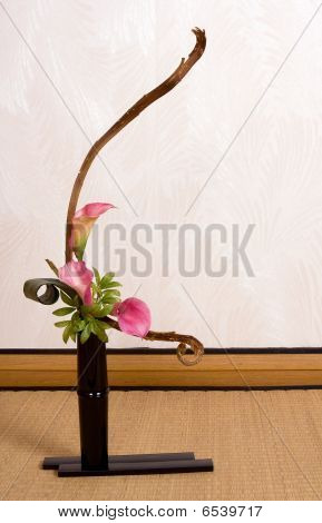 Ikebana In Japanese Interior