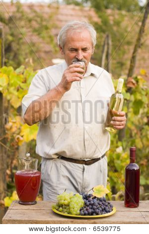 Old Man With Vine