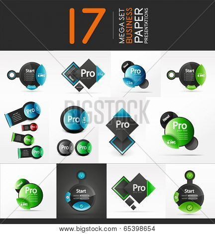 Vector abstract shape geometric business presentation layouts
