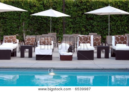 Outdoor Seating By The Pool