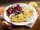 picture of chicory  - breaded sole with chicory salad and lemon - JPG