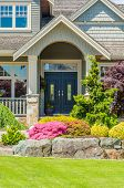 stock photo of brownstone  - A nice entrance of a luxury house - JPG