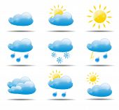 pic of hurricane clips  - Weather Icons Set Vector Illustration - JPG