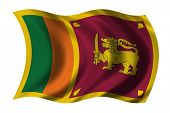 pic of sinhala  - Flag of Sri Lanka waving in the wind - JPG