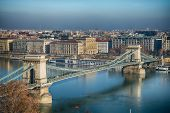 image of royal palace  - The magnificent view from the Royal Palace in Budapest - JPG