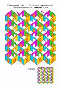 stock photo of maze  - Maze game - JPG