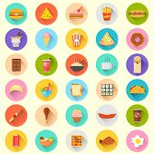 picture of meat icon  - illustration of flat fast food icon - JPG