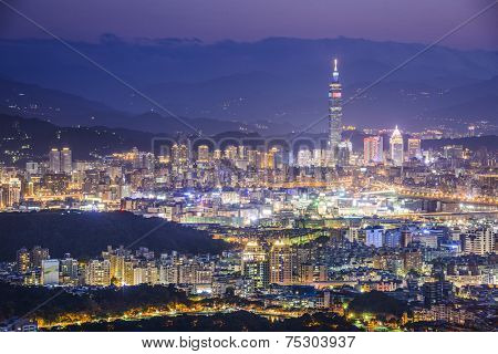 Taipei, Taiwan Cityscape from Neihu District.