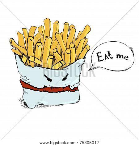 Vector Fry Potato