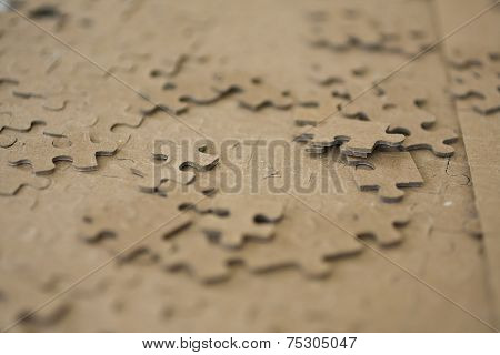Blurred Edged Puzzle Pieces