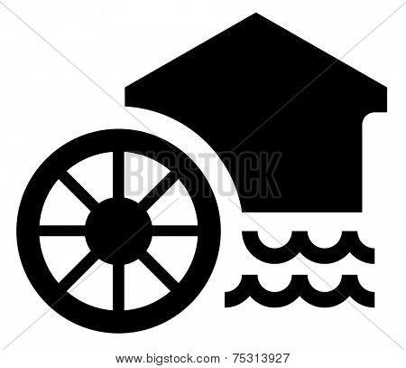Watermill vector icon