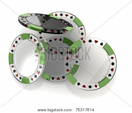 Glass Poker Chips
