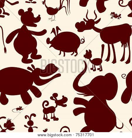 Animals. Seamless pattern